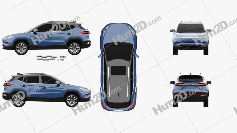 JAC iEVS4 2019 car clipart