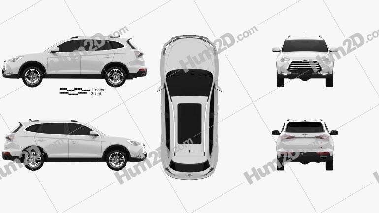 JAC Refine S7 Sport 2017 car clipart