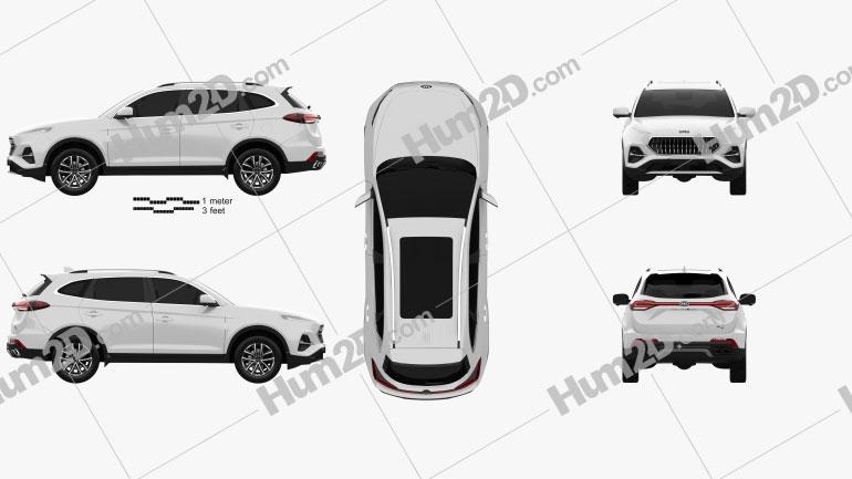 JAC Sei7 2020 car clipart
