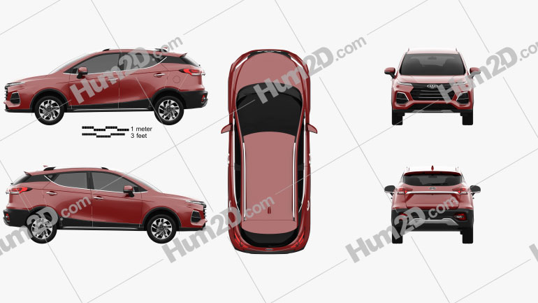 JAC Sei3 Pro 2020 car clipart
