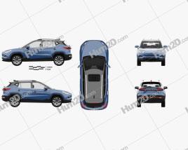 JAC iEVS4 com interior HQ 2019 car clipart