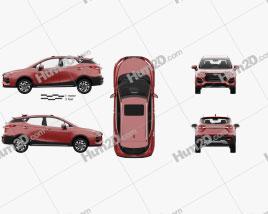 JAC Sei3 Pro com interior HQ 2020 car clipart