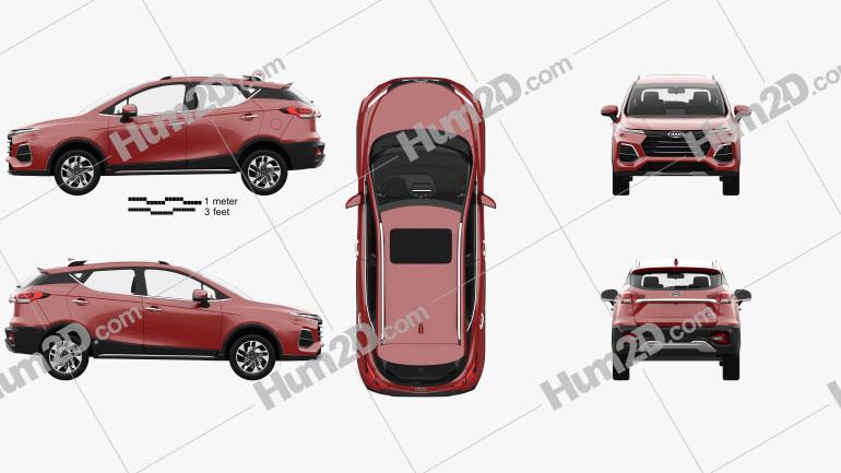 JAC Sei3 Pro with HQ interior 2020 car clipart