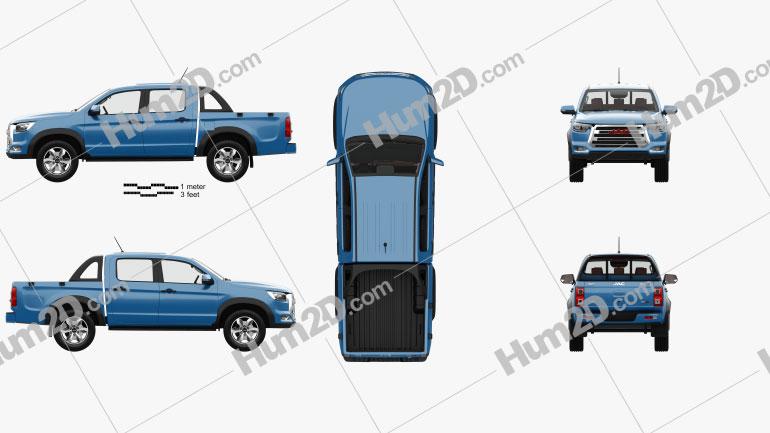 JAC Shuailing T8 with HQ interior 2018 car clipart