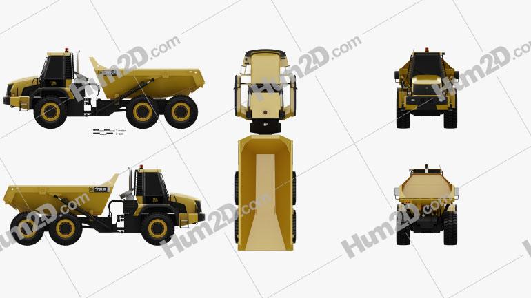 JCB 722 Dump Truck 2012 clipart