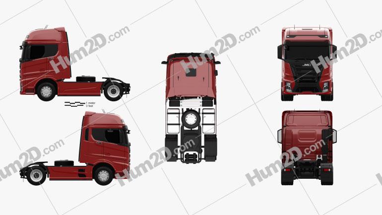 JMC Weilong HV5 Tractor Truck 2018 clipart