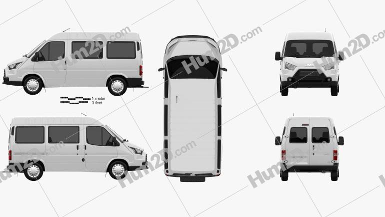 JMC Teshun Passenger Van L1 2015 clipart