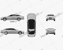 Jaguar XJ (X351) 2010 car clipart