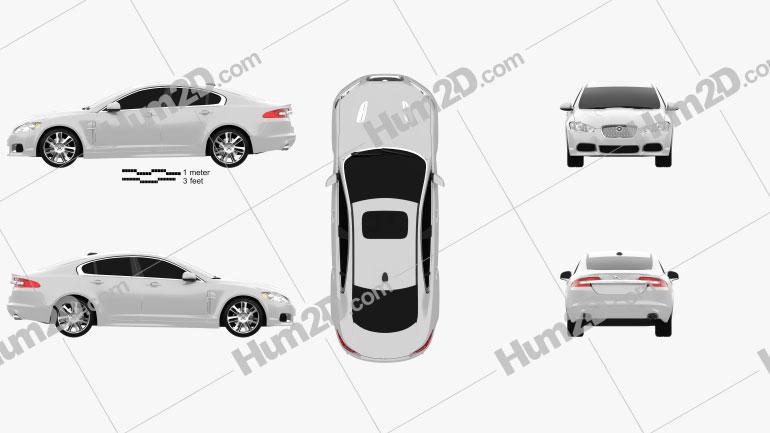Jaguar XFR 2011 car clipart