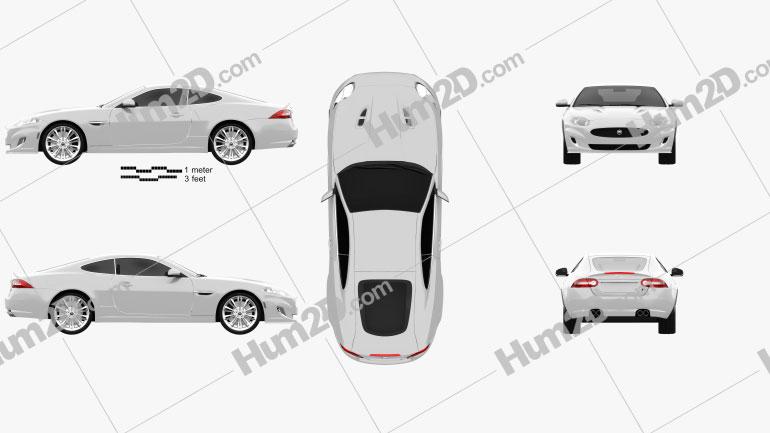 Jaguar XKR (X150) 2012 car clipart