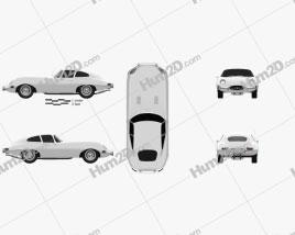 Jaguar E-type coupe 1961 Clipart