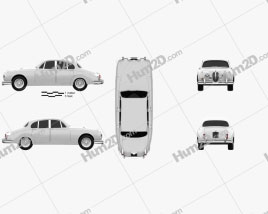Jaguar Mark 2 1959-1967 car clipart