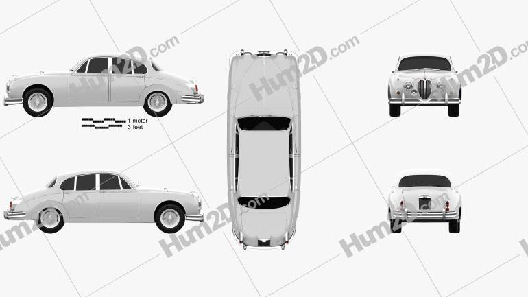 Jaguar Mark 2 1959-1967 Clipart Image