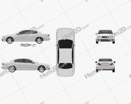 Jaguar X-Type saloon 2009 car clipart