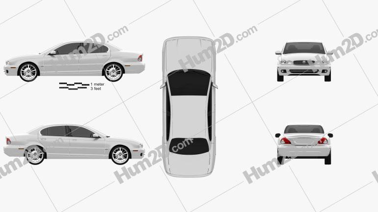 Jaguar X-Type saloon 2009 Clipart Image