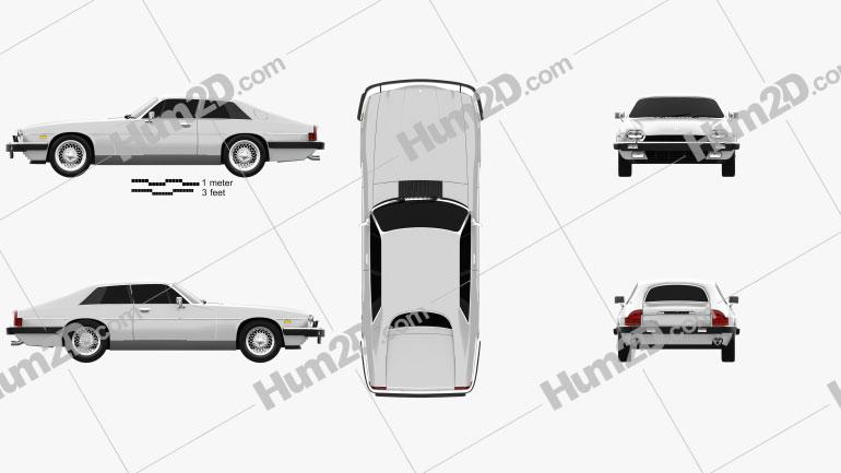 Jaguar XJ-S coupe 1975 Clipart Image
