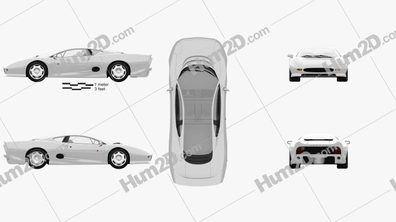 Jaguar XJ220 1992 car clipart