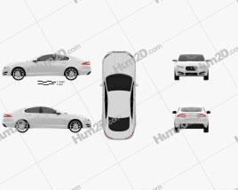 Jaguar XF 2012 car clipart