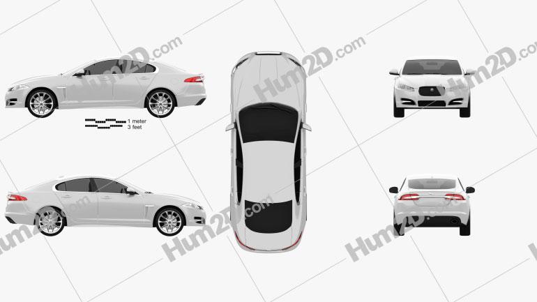 Jaguar XF 2012 Clipart Bild