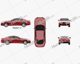 Jaguar XFR 2012 car clipart