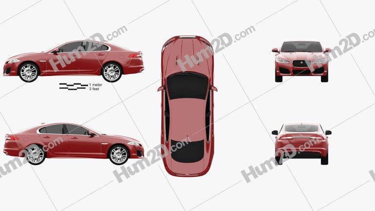 Jaguar XFR 2012 Clipart Image