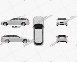 Jaguar XF Sportbrake 2012 car clipart