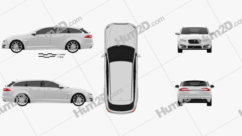 Jaguar XF Sportbrake 2012 Imagem Clipart