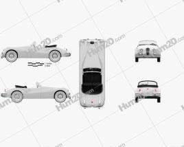 Jaguar XK 140 convertible with HQ interior 1954