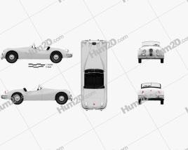 Jaguar XK 140 roadster with HQ interior 1954