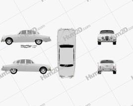 Jaguar S-Type 1963 car clipart