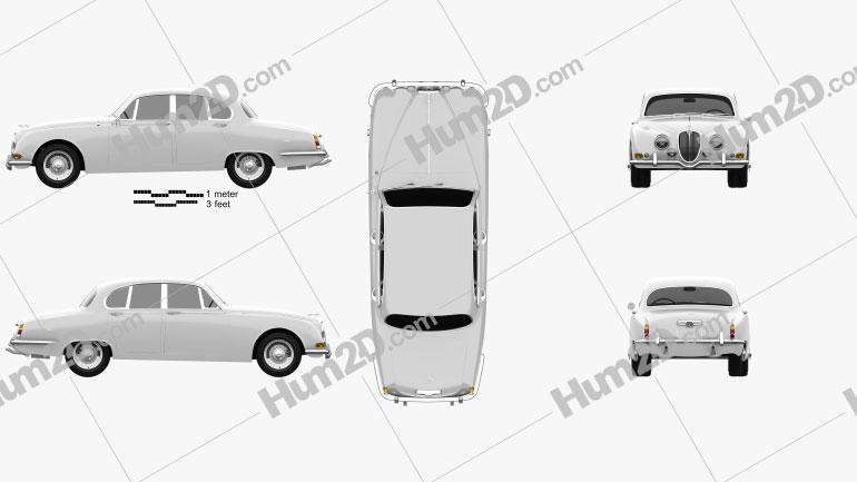 Jaguar S-Type 1963 Clipart Image