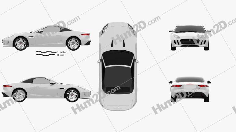 Jaguar F-Type S convertible 2013 car clipart