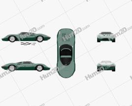 Jaguar XJ13 1966 car clipart