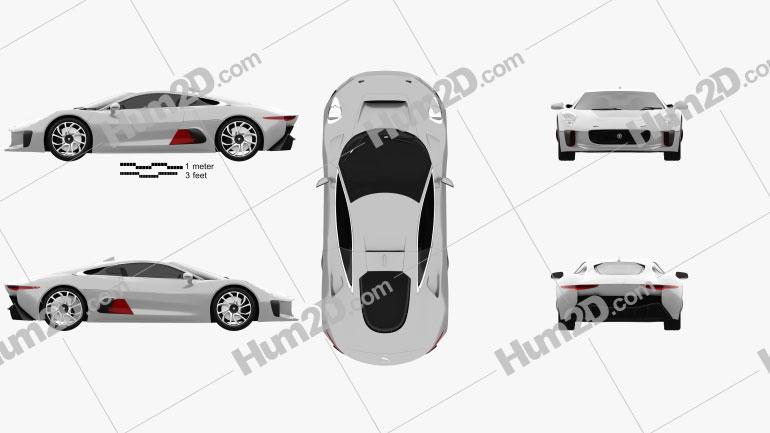 Jaguar C-X75 2013 car clipart