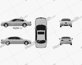 Jaguar S-Type 2008 Clipart