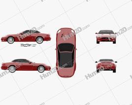 Jaguar XKR convertible 2011 car clipart