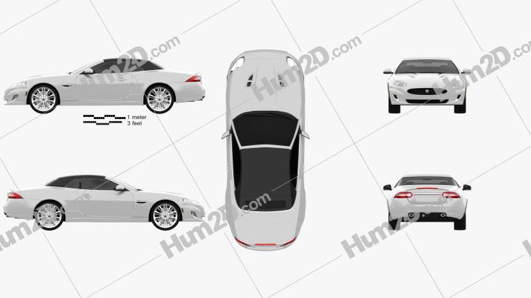 Jaguar XK convertible 2011 car clipart