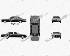 Jaguar XJ (Series 3) 1979 car clipart