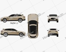 Jaguar C-X17 2013 car clipart