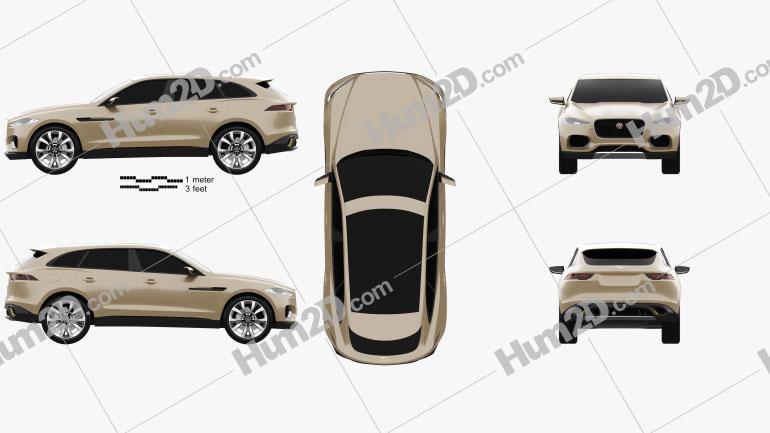 Jaguar C-X17 2013 Clipart Image