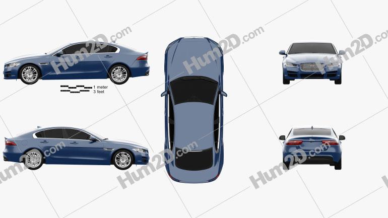 Jaguar XE 2015 Clipart Image