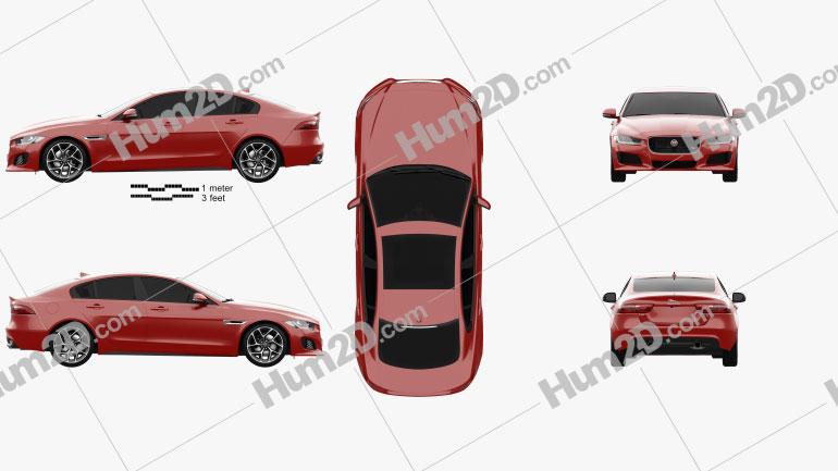 Jaguar XE S 2015 Clipart Image