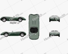 Jaguar C-Type 1951 car clipart