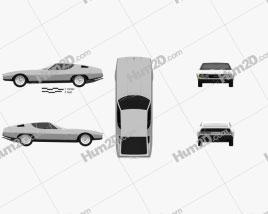 Jaguar Bertone Pirana 1967 Clipart