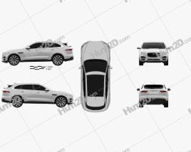 Jaguar F-Pace 2016 car clipart