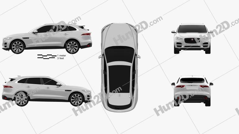 Jaguar F-Pace 2016 Clipart Image
