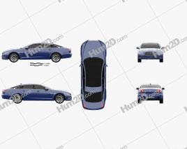 Jaguar XJ (X351) 2015 car clipart