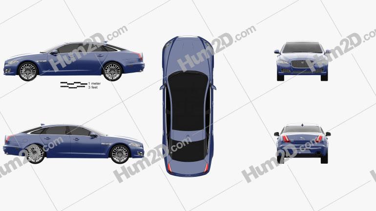 Jaguar XJ (X351) 2015 Clipart Image
