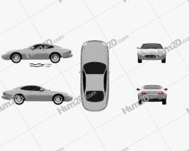 Jaguar XK 8 coupe 1996 car clipart