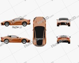 Jaguar F-Type SVR Coupe 2016 car clipart